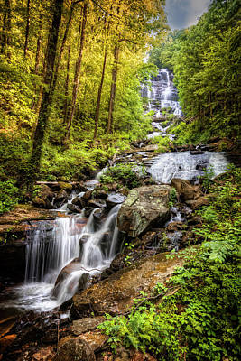 Photograph - Full Beauty Amicalola Falls by Debra and Dave Vanderlaan