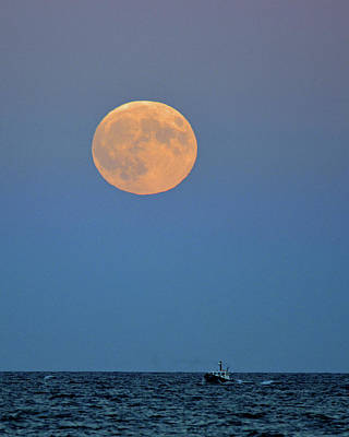 Photograph - Full Blood Moon by Nancy Landry