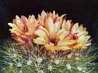 Prickly Pear Painting - Full Bloom by Hailey E Herrera