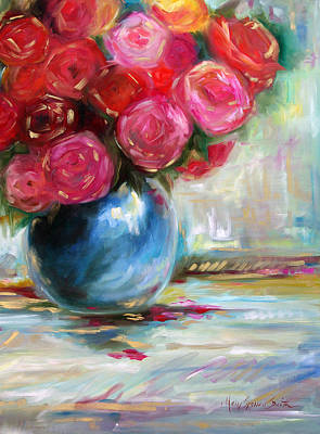 Oil Painting - Full Bloom by Mary Sparrow