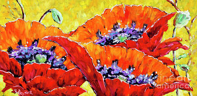 Full Bloom Poppies By Prankearts Fine Art Art Print