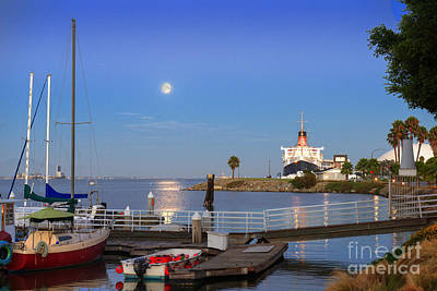 Photograph - Full Blue Moon Rising Over Maya Marina by David Zanzinger