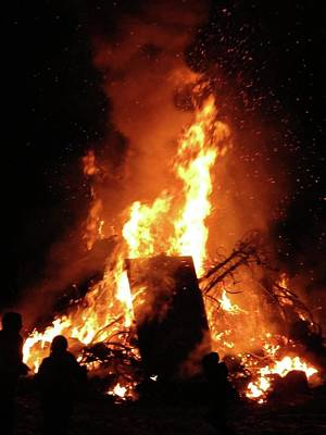 Photograph - Full Bonfire by Azthet Photography