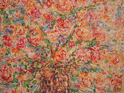 Painting - Full Bouquet. by Leonard Holland