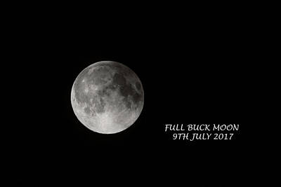 High Iso Photograph - Full Buck Moon July 2017 by Micheal Anthony
