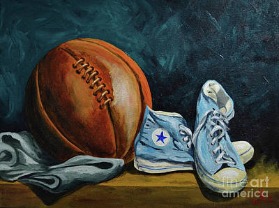 Sports Paintings - Full Court by Herschel Fall