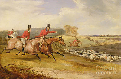 Horseback Painting - Full Cry, Bachelor's Hall by Francis Calcraft Turner