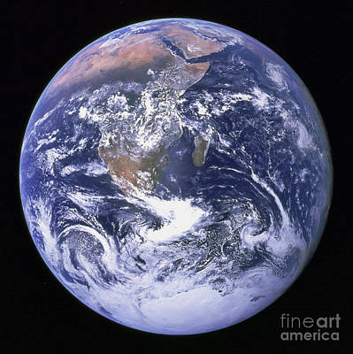 Terrestrial Sphere Photograph - Full Earth by Stocktrek Images