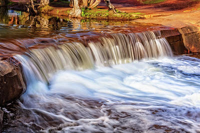 Print featuring the photograph Full Flow, Noble Falls, Perth by Dave Catley