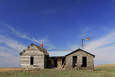 Photograph - Full Frontal Prairie Home by Christopher McKenzie