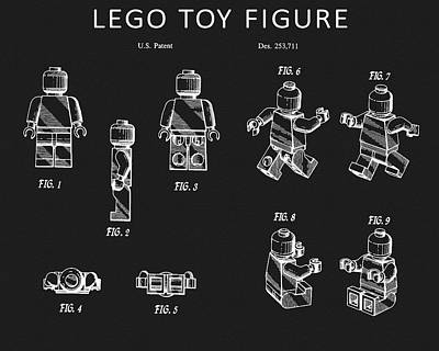 Drawing - Full Lego Toy Figure Patent by Dan Sproul