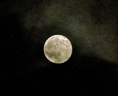Full Moon - October 2010 Art Print