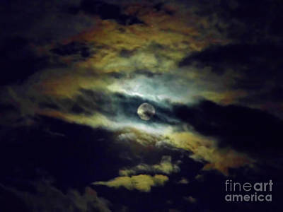 Photograph - Full Moon And Clouds by D Hackett