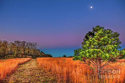 Photograph - Full Moon And Falling Stars In The Blue Ridge by Dan Carmichael