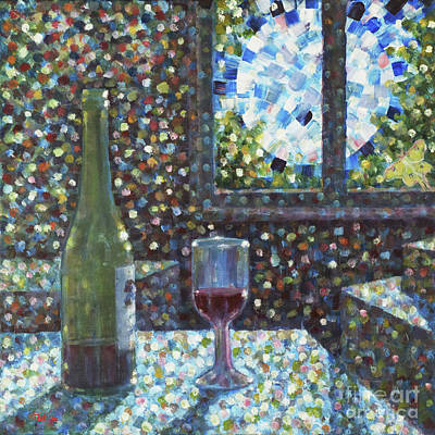 Packing Painting - Full Moon And Mulberry Wine by Jim Rehlin