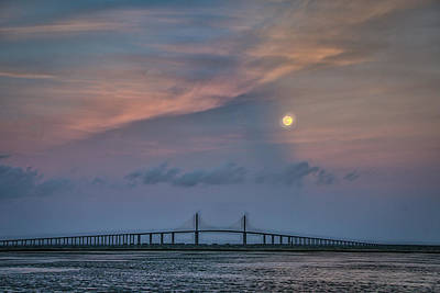 Photograph - Full Moon And Sunset by Jane Luxton