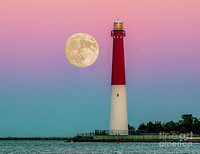 Photograph - Full Moon At Barnegat by Nick Zelinsky