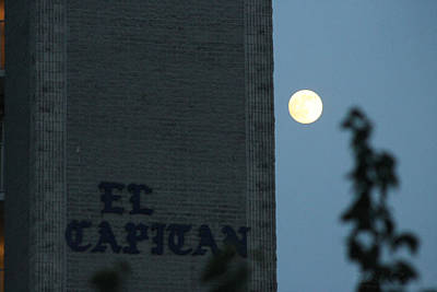 Photograph - Full Moon At El Capitan by Robert Banach