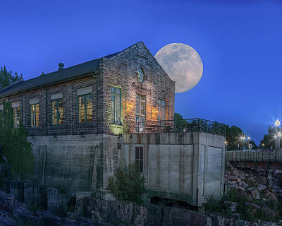 Photograph - Full Moon At Falls Overlook by Susan Rissi Tregoning