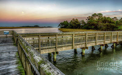 Photograph - Full Moon At Heritage Shores Nature Preserve by David Smith