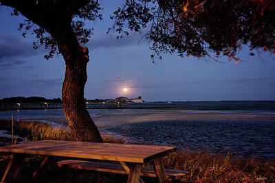 Photograph - Full Moon At Inlet Watch by Phil Mancuso