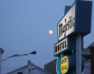 Photograph - Full Moon At The Majestic Hotel by Robert Banach