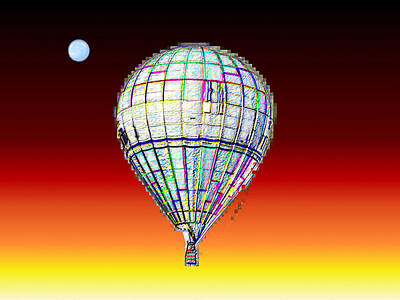 Photograph - Full Moon Balloon by Tim Allen