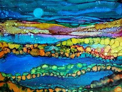 Painting - Full Moon by Betsy Carlson Cross
