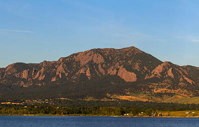 Photograph - Full Moon Boulder Colorado Front Range Panorama Pt1 by James BO  Insogna