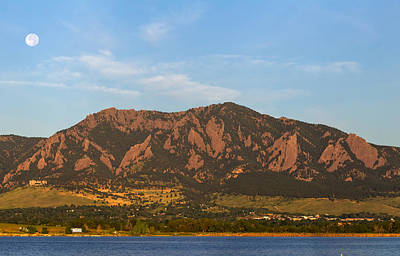 Photograph - Full Moon Boulder Colorado Front Range Panorama Pt2 by James BO Insogna