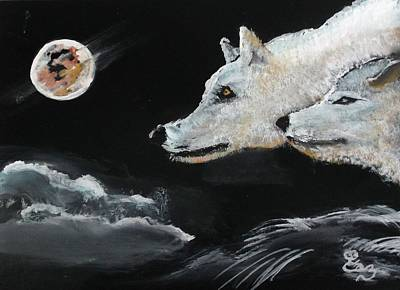 Painting - Full Moon by Carole Robins