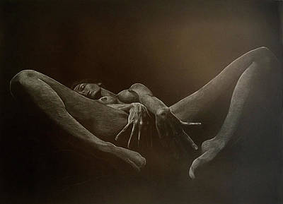 Tantra Drawing - Full Moon by Elena Ursu
