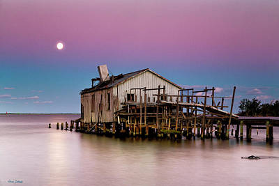 Photograph - Full Moon Fishhouse by Fran Gallogly