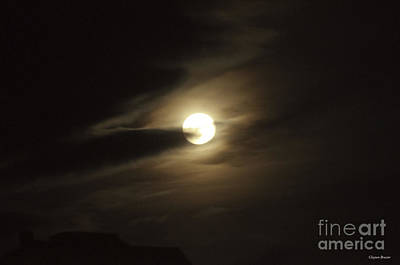 Photograph - Full Moon Howling by Clayton Bruster