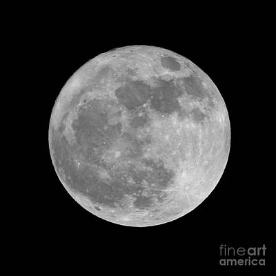 Photograph - Full Moon In Black And White by Paul Topp