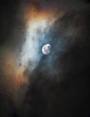 Photograph - Full Moon In Colorful Sky by Jennie Marie Schell