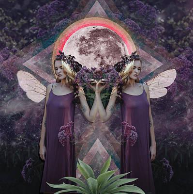 Moon Drawing - Full Moon In Gemini by Lori Menna