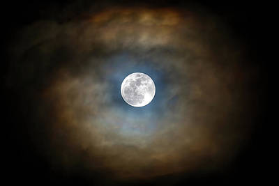 Photograph - Full Moon In The Clouds by David Gn