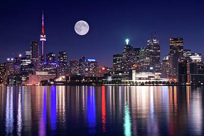 Photograph - Full Moon In Toronto by Frozen in Time Fine Art Photography