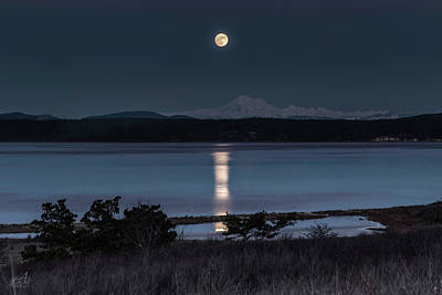 Baker Island Photograph - Full Moon Jan 2017 by Thomas Ashcraft