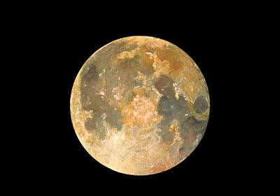 Collectible Art Painting - Full Moon by Juan Bosco
