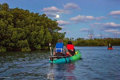 Photograph - Full Moon Kayaking by Fran Gallogly