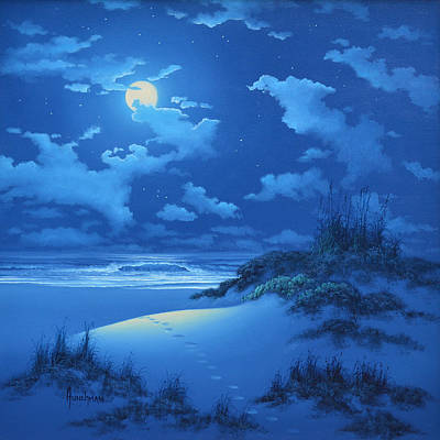 Painting - Full Moon by Kenneth F Aunchman