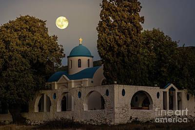 Photograph - Full Moon by Konstantinos Chatziamallos