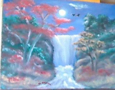 Painting - Full Moon by M bhatt
