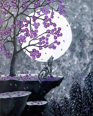 Painting - Full Moon Magic by Teresa Wing