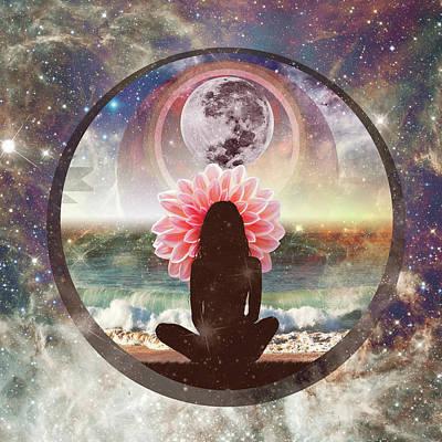Drawing - Full Moon Meditation  by Lori Menna