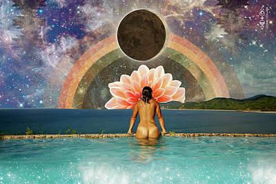 Digital Art - Full Moon, New Moon by Lori Menna