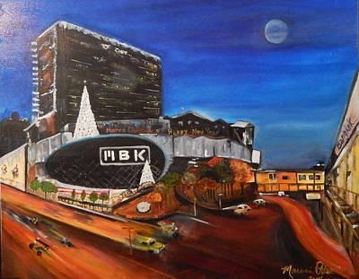 Bangkok Painting - Full Moon Night In Bangkok by Marvin Pike