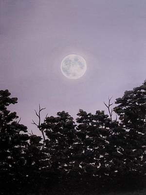 Painting - Full Moon On A Summer Evening by Anna Bronwyn Foley